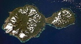 image satellite de Tahiti.