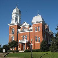 Taliaferro County Courthouse east facade.jpg