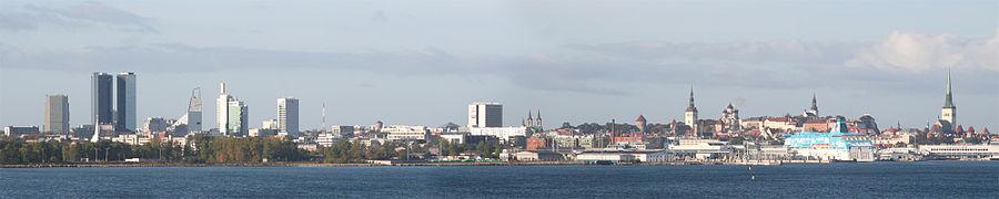Panorama de la ville de Tallinn
