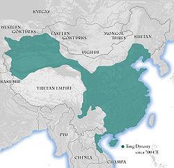 Ubicación de Dinastía Tang