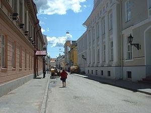 Calle Rüütli, en el centro de Tartu.
