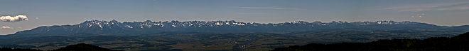 Panorama des Tatras