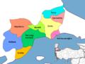 Districts of Tekirdağ