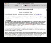 A screenshot of Apple's TextEdit.