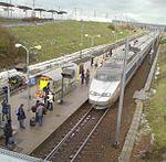 TGV Sud-Est entrant en gare (partie TER).