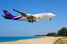 Een Boeing 747-400 van Thai Airways International