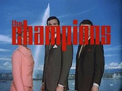 Alt=Series titles superimposed on cast in front of Lake Geneva.