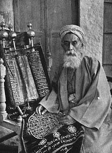 The High Priest of the Samaritans with the Codex Nablus c. 192.jpg
