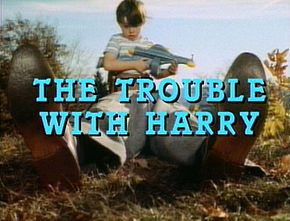 Description de l'image  The Trouble With Harry title from trailer.jpg.