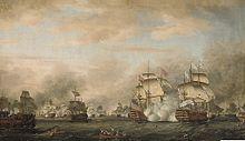 The battle of the Saints 12 avril 1782.jpg