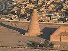 La grande mosquée de Samarra et son minaret.