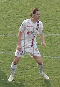 Tiago avec l'Olympique lyonnais
