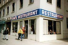 Tom's Restaurant, restaurante en Manhattan, llamado Monk's Cafe en Seinfeld.