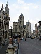 De drie torens van Gent