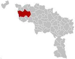 Tournai Hainaut Belgium Map.png