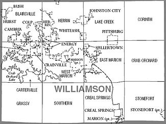 Map of Christian County, Illinois.