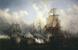Le Bucentaure et le Temeraire à Trafalgar