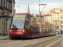Image du tramway de Clermont-Ferrand, en circulation