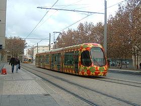 Tramway Montpellier Ligne 2 PlaceDeLEurope.JPG
