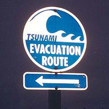 Photo of evacuation sign