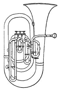 Dessin d'un tuba