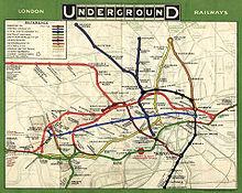 London 1908 metromap.
