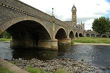 Bridge over the River Tweed in Peebles, Scotland