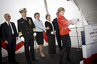 Christening of USS Dewey