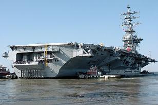 Le navire, vu du port.