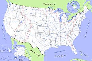 Localización del río Connecticut