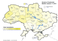 Yulia Tymoshenko (First round) - percentage of total national vote (25.05%)