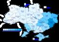 Viktor Yanukovych (First round) - percentage of total national vote (35.33%)