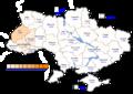 Viktor Yushchenko (First round) - percentage of total national vote (5.46%)
