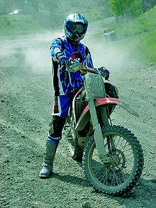 Umar Khan riding motocross