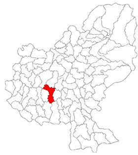 Localisation de Ungheni dans le județ de Mures