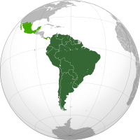 Member states of the UNASUR in dark green; observer states in light green.