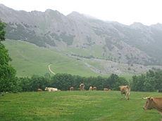 Aitxuri près des sommets voisins dans le massif d'Aitzkorri