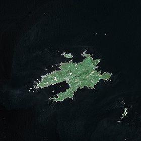 Ouessant vu par le satellite SPOT