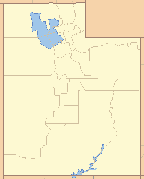 """Map of Utah divided into its 29 counties, each labeled with two letters. The most northwestern county is labeled """"BE""""."""