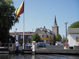 Valkenburg gezien vanaf de Oude Rijn