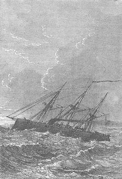 Le Delphin traversant l'Atlantique