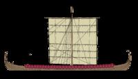 Schéma de profil d'un langskip