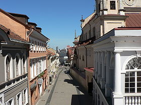 Vilnius Old Town: Aušros Vartų street