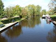 Lauwers bij Visvliet vanaf de Gerkesbrug (noorden)