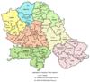 Map of municipalities of Vojvodina