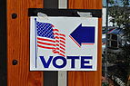 Voting place indicator, United States