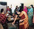 Women voting in Bangladesh