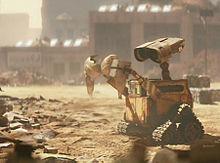 WALL-E holding a bra