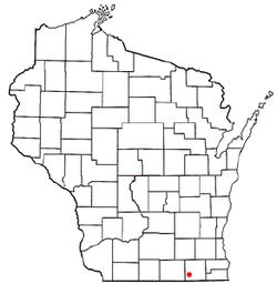 Location of Darien (town), Wisconsin