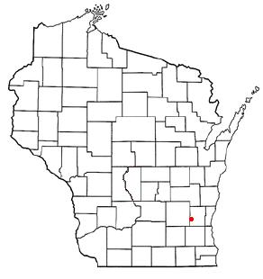 Location of Hartford, Washington County, Wisconsin, Wisconsin